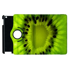 Kiwi Fruit Slices Cut Macro Green Apple Ipad 3/4 Flip 360 Case by Alisyart