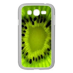 Kiwi Fruit Slices Cut Macro Green Samsung Galaxy Grand Duos I9082 Case (white) by Alisyart