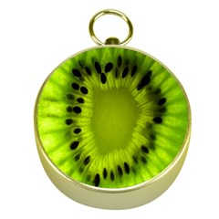 Kiwi Fruit Slices Cut Macro Green Gold Compasses by Alisyart