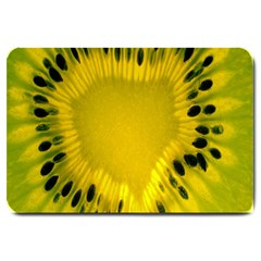 Kiwi Fruit Slices Cut Macro Green Yellow Large Doormat