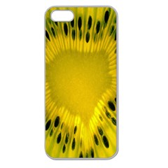 Kiwi Fruit Slices Cut Macro Green Yellow Apple Seamless Iphone 5 Case (clear) by Alisyart