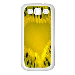 Kiwi Fruit Slices Cut Macro Green Yellow Samsung Galaxy S3 Back Case (white) by Alisyart