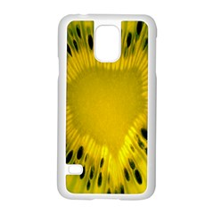 Kiwi Fruit Slices Cut Macro Green Yellow Samsung Galaxy S5 Case (white) by Alisyart