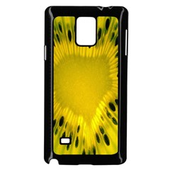 Kiwi Fruit Slices Cut Macro Green Yellow Samsung Galaxy Note 4 Case (black) by Alisyart