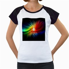 Lamp Light Galaxy Space Color Women s Cap Sleeve T