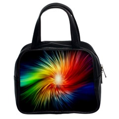 Lamp Light Galaxy Space Color Classic Handbags (2 Sides)