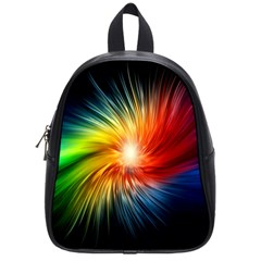 Lamp Light Galaxy Space Color School Bags (small)  by Alisyart