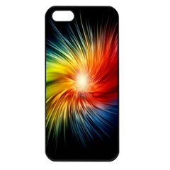 Lamp Light Galaxy Space Color Apple Iphone 5 Seamless Case (black)