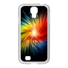 Lamp Light Galaxy Space Color Samsung Galaxy S4 I9500/ I9505 Case (white) by Alisyart