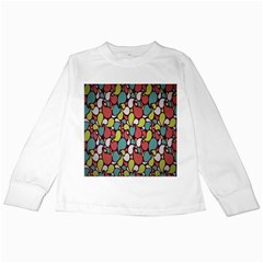 Leaf Camo Color Flower Kids Long Sleeve T Shirts