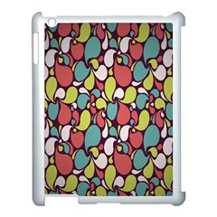 Leaf Camo Color Flower Apple Ipad 3/4 Case (white)
