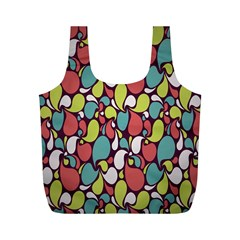 Leaf Camo Color Flower Full Print Recycle Bags (m)  by Alisyart