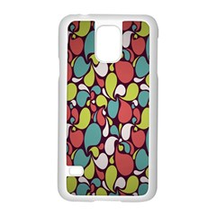 Leaf Camo Color Flower Samsung Galaxy S5 Case (white)