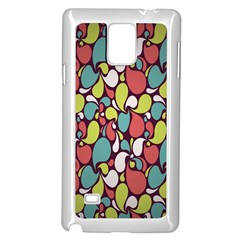 Leaf Camo Color Flower Samsung Galaxy Note 4 Case (white)