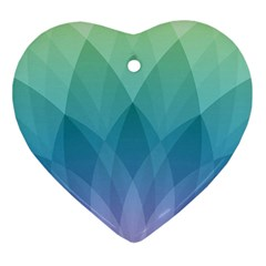 Lotus Events Green Blue Purple Ornament (heart)