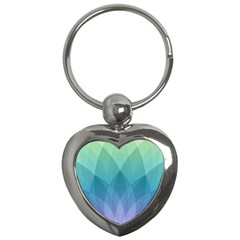 Lotus Events Green Blue Purple Key Chains (heart)