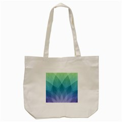 Lotus Events Green Blue Purple Tote Bag (cream) by Alisyart