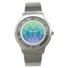 Lotus Events Green Blue Purple Stainless Steel Watch