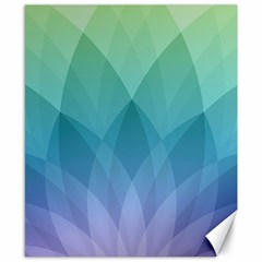 Lotus Events Green Blue Purple Canvas 8  X 10