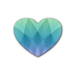 Lotus Events Green Blue Purple Heart Coaster (4 Pack)  by Alisyart