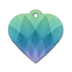 Lotus Events Green Blue Purple Dog Tag Heart (two Sides) by Alisyart