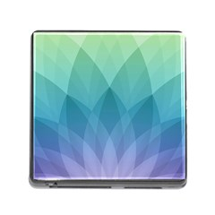 Lotus Events Green Blue Purple Memory Card Reader (square) by Alisyart