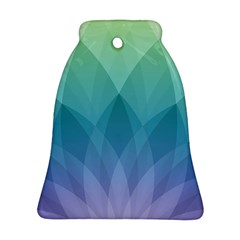 Lotus Events Green Blue Purple Ornament (bell) by Alisyart