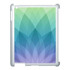 Lotus Events Green Blue Purple Apple Ipad 3/4 Case (white)