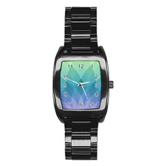 Lotus Events Green Blue Purple Stainless Steel Barrel Watch