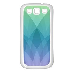 Lotus Events Green Blue Purple Samsung Galaxy S3 Back Case (white)