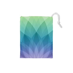 Lotus Events Green Blue Purple Drawstring Pouches (small)