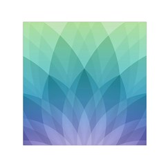 Lotus Events Green Blue Purple Small Satin Scarf (square)