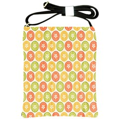 Lime Orange Fruit Slice Color Shoulder Sling Bags