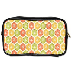Lime Orange Fruit Slice Color Toiletries Bags by Alisyart