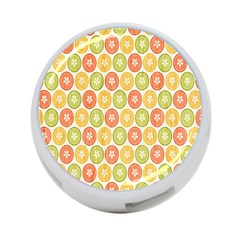 Lime Orange Fruit Slice Color 4 Port Usb Hub (two Sides)  by Alisyart