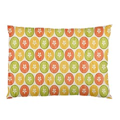 Lime Orange Fruit Slice Color Pillow Case (two Sides) by Alisyart