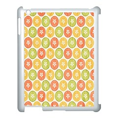 Lime Orange Fruit Slice Color Apple Ipad 3/4 Case (white)