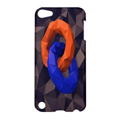 Low Poly Figures Circles Surface Orange Blue Grey Triangle Apple Ipod Touch 5 Hardshell Case