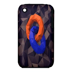 Low Poly Figures Circles Surface Orange Blue Grey Triangle Iphone 3s/3gs by Alisyart