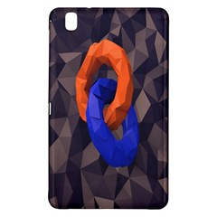 Low Poly Figures Circles Surface Orange Blue Grey Triangle Samsung Galaxy Tab Pro 8 4 Hardshell Case by Alisyart