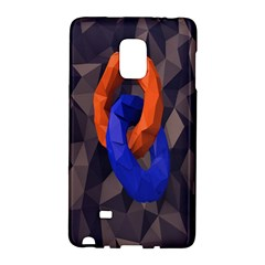 Low Poly Figures Circles Surface Orange Blue Grey Triangle Galaxy Note Edge