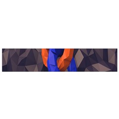 Low Poly Figures Circles Surface Orange Blue Grey Triangle Flano Scarf (small) by Alisyart