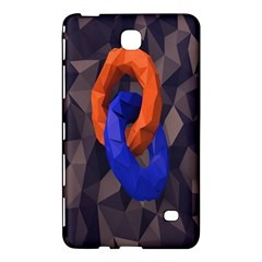 Low Poly Figures Circles Surface Orange Blue Grey Triangle Samsung Galaxy Tab 4 (7 ) Hardshell Case  by Alisyart