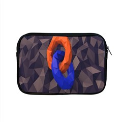 Low Poly Figures Circles Surface Orange Blue Grey Triangle Apple Macbook Pro 15  Zipper Case