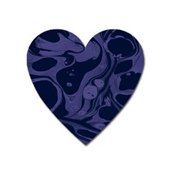 Marble Blue Marbles Heart Magnet