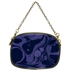 Marble Blue Marbles Chain Purses (one Side)  by Alisyart