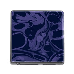 Marble Blue Marbles Memory Card Reader (square) by Alisyart
