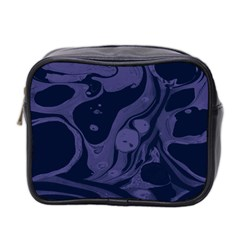 Marble Blue Marbles Mini Toiletries Bag 2 Side by Alisyart