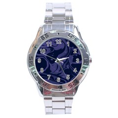 Marble Blue Marbles Stainless Steel Analogue Watch
