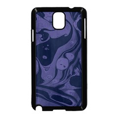 Marble Blue Marbles Samsung Galaxy Note 3 Neo Hardshell Case (black) by Alisyart